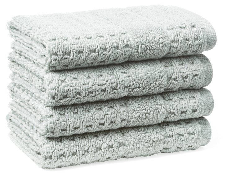 S/4 Hammam Washcloths, Misty Sage