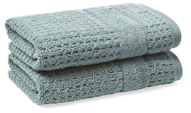 S/2 Hammam Hand Towels, Slate