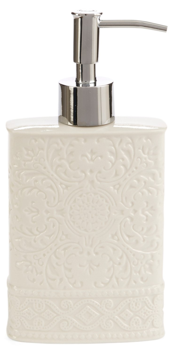 Trump Bedminster Damask Lotion Pump, Wh