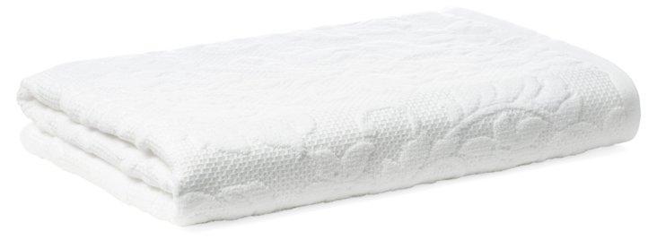 Parisian Bath Towel, White