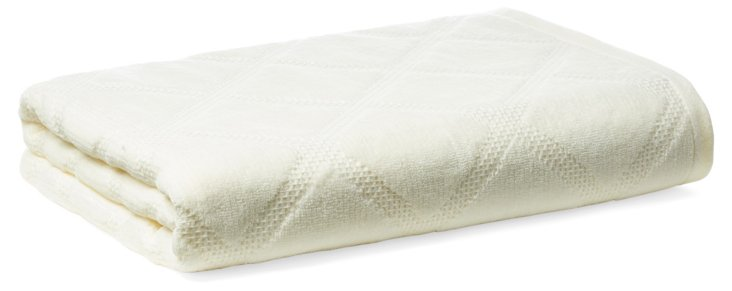 Parisian Diamond Bath Towel, Pearl