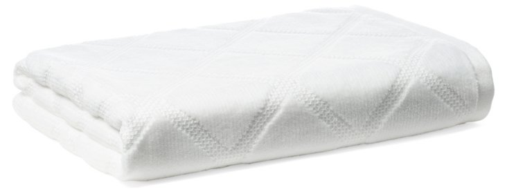 Parisian Diamond Bath Towel, White