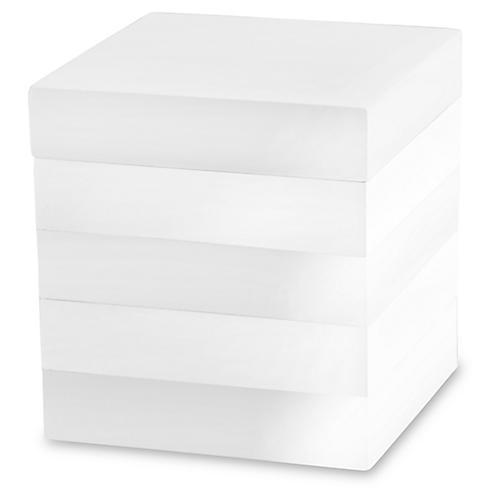 Cabana Cotton Jar, White