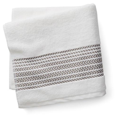 Baja Bath Towel, Aluminum