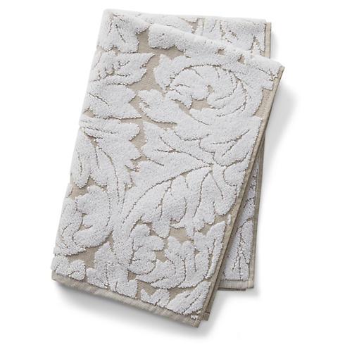 Foglia Hand Towel, Taupe