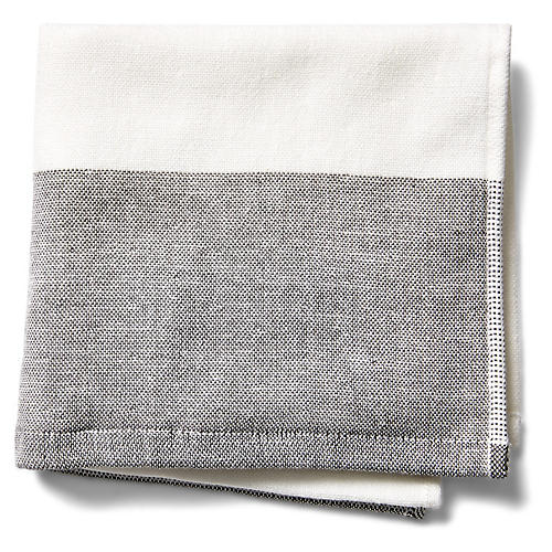 Greenwich Washcloth, Charcoal