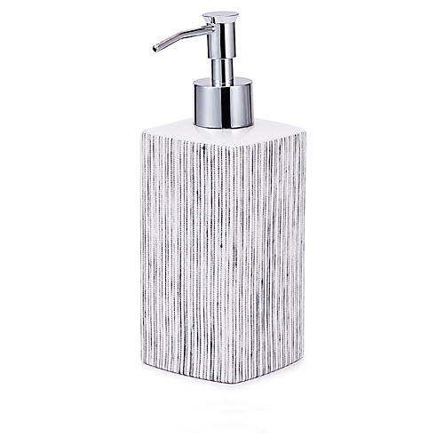 Wainscott Lotion Dispenser, White/Gray