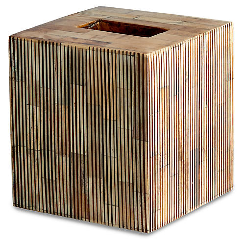 Bali Tissue Box Cover, Neutral