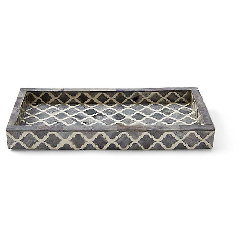 Marrakesh Long Tray, Gray
