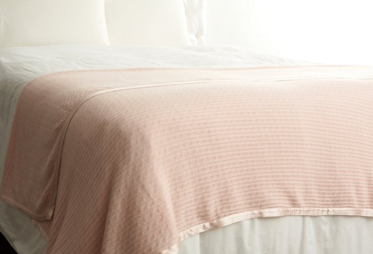 Cashmere Link Throw, Pink