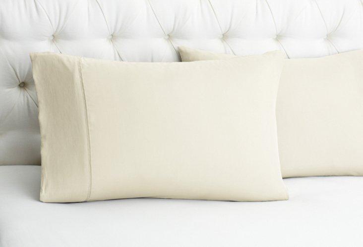 S/2 Basics Pillowcases, Vanilla