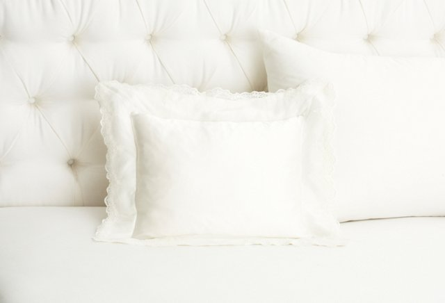 Lace Collection Boudoir Sham, White