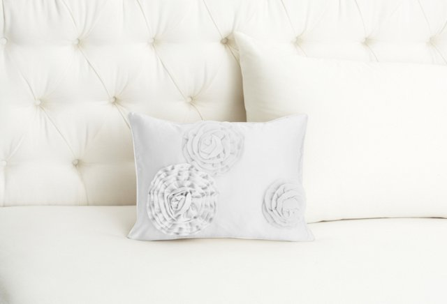Flower Collection Boudoir Sham, White