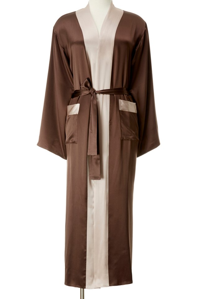 Long Robe, Chocolate/Champagne