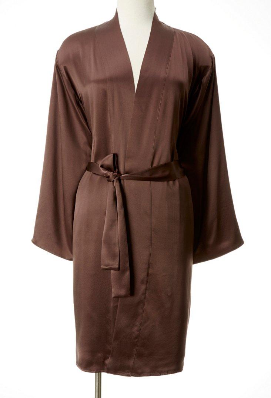Large Short Robe, Chocolate/Ivory