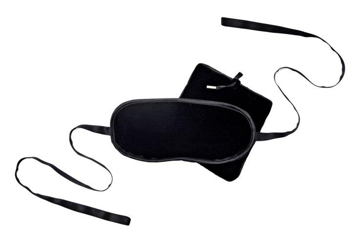 Velvet Eye Mask Set, Black