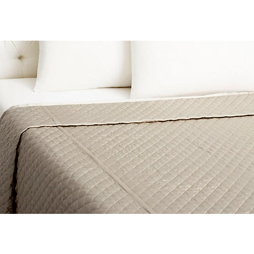 Quilted Coverlet, Smoke