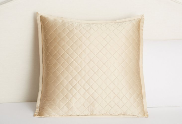 Quilted Euro Sham, Ivory