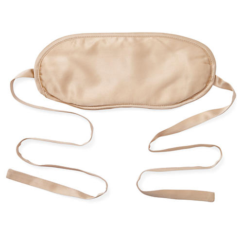 Silk-Filled Eye Mask, Ivory