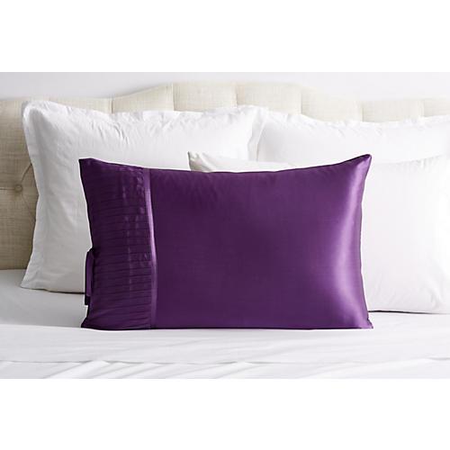 French Pleat Silk Pillow Sham, Iris