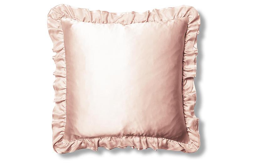 Lilyaine Silk Euro Pillow Sham, Pink