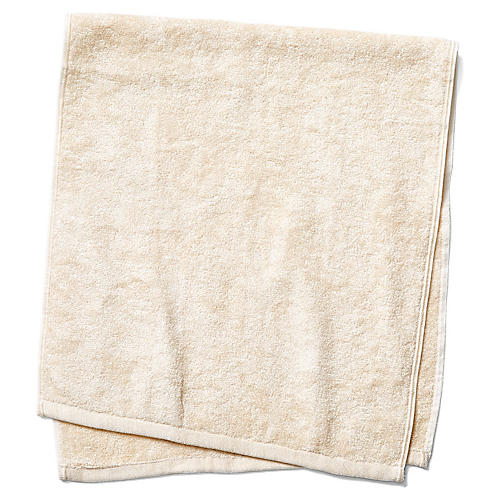 Silk Terry Hand Towel, Natural