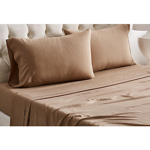 Kumi Basics Sheet Set, Chestnut