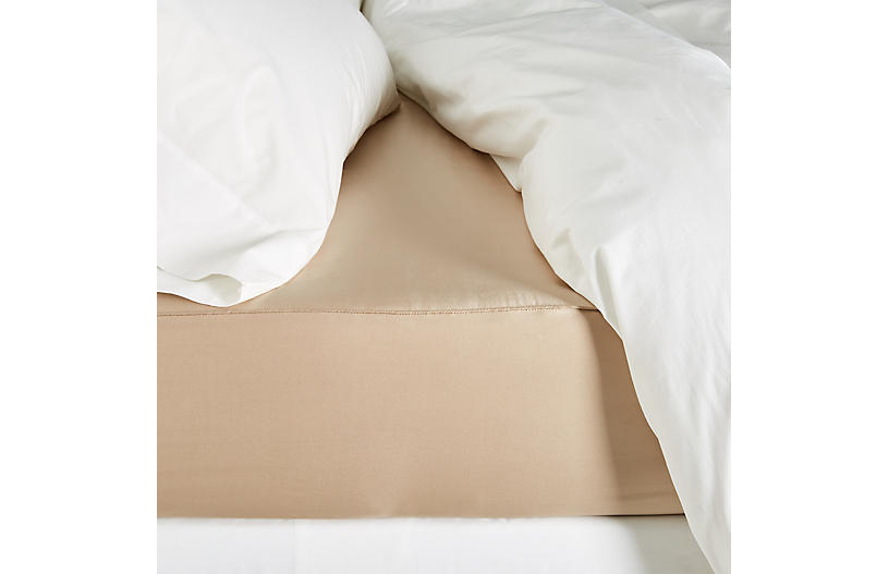 Classic Collection Fitted Sheet, Toasted Almond