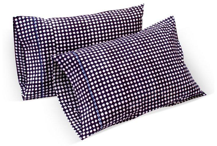 S/2 Stella Std Pillowcases, Navy