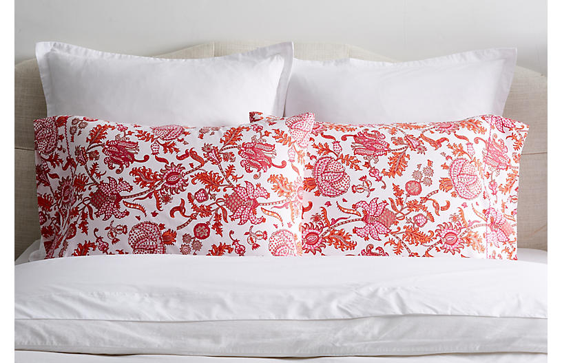 S/2 Amanda Pillowcases, Orange