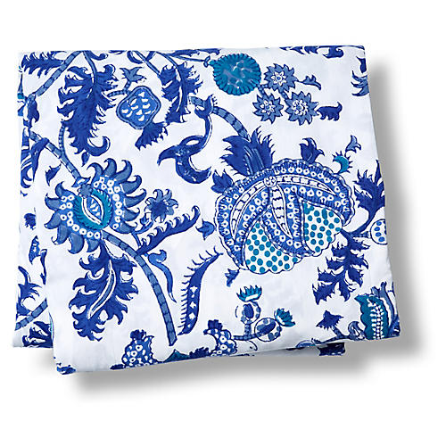 Amanda Fitted Sheet, Blue