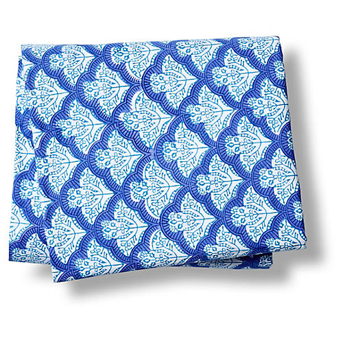 Jemina Fitted Sheet, Blue