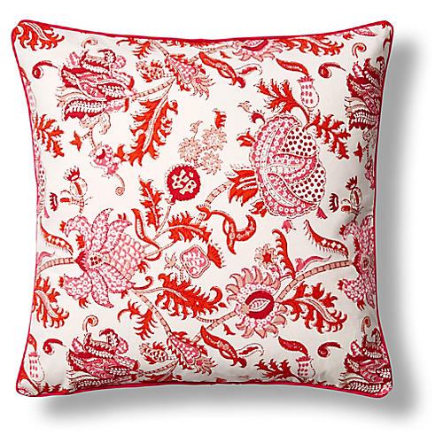 Amanda Cotton Pillow Cover, Orange