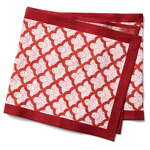 Jemina Table Runner, Red/White