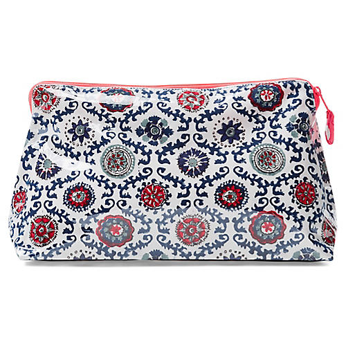 Mayra Makeup Bag, Berry/Multi