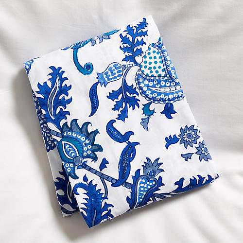 Amanda Fitted Crib Sheet, Blue