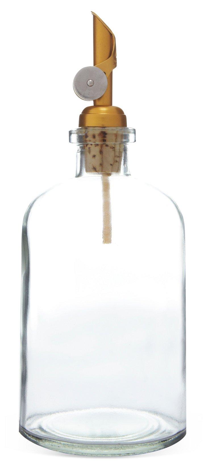 Weighted Tip Glass Dispenser, Gold
