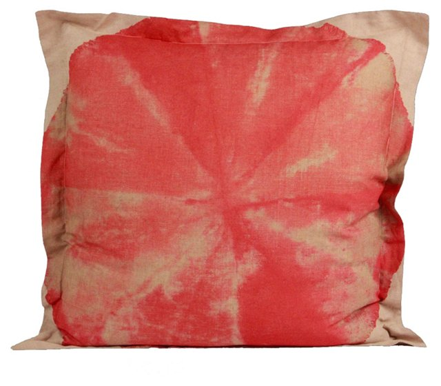 "Hand-Dyed Throw Pillow, 28"" II"