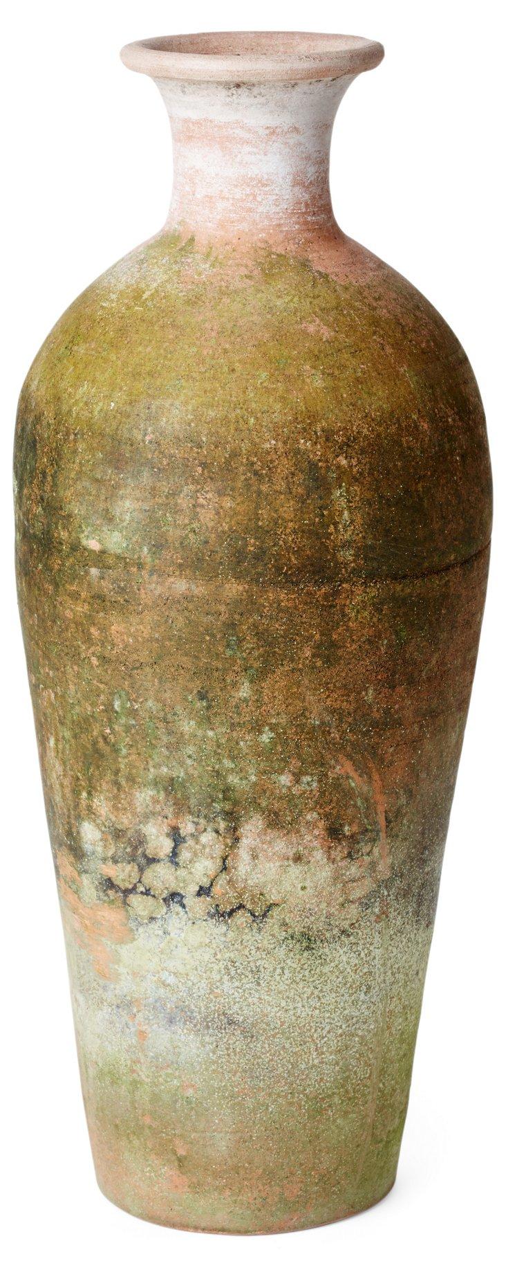 "22"" Aged Terracotta Positano Urn"
