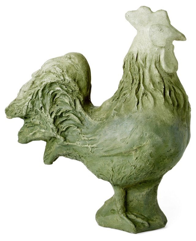 """16"""" Cast Stone Rooster"""
