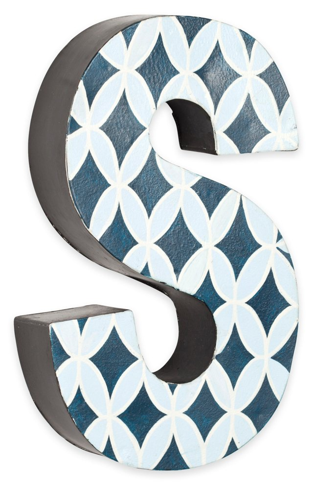 Letter S, Navy And Light Blue Circles