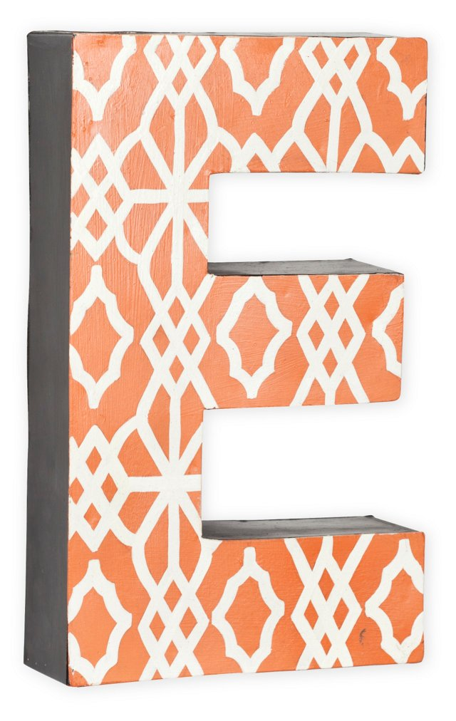Letter, Orange Geometric