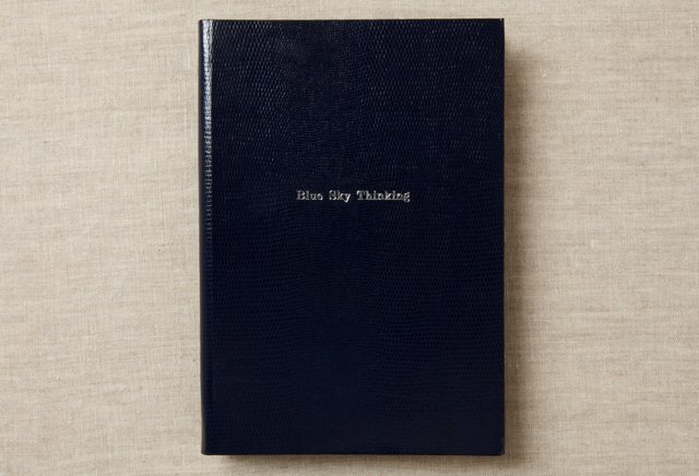"""Blue Sky Thinking"" Journal, Navy Blue"