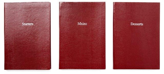 Asst of 3 Dining Journals, Red