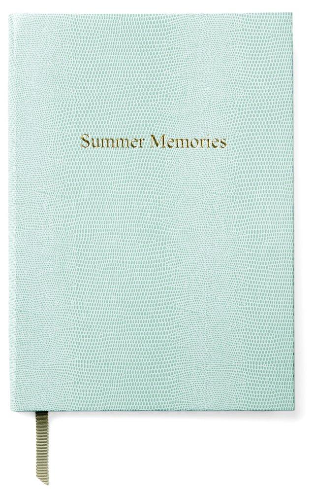 """Summer Memories"" Journal, Aqua"