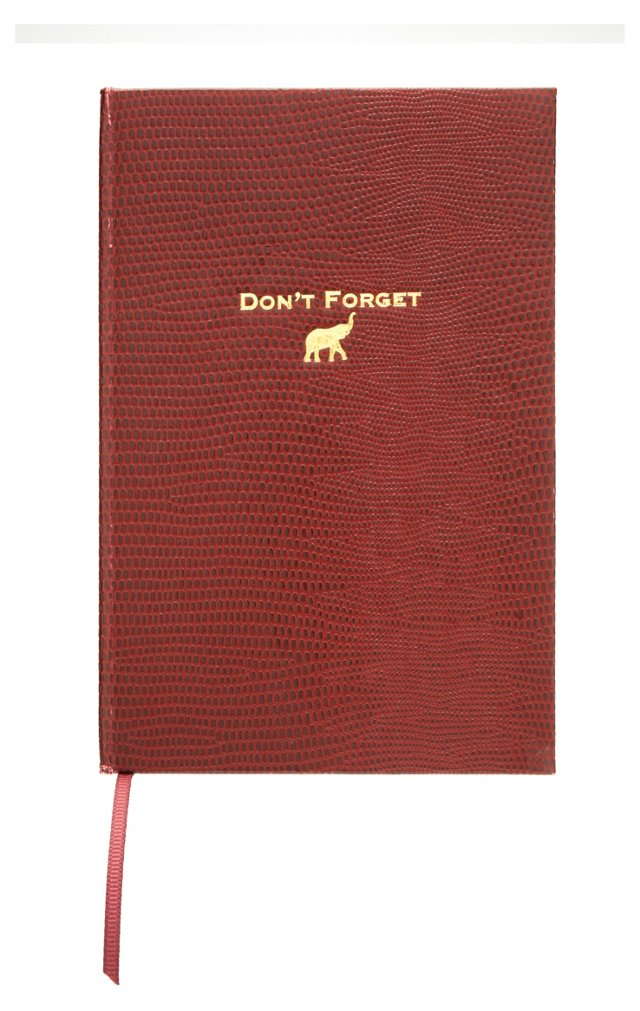 """""""Don't Forget"""" Journal, Burgundy"""