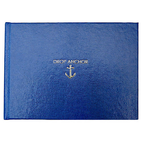 Drop Anchor Guest Book, Blue