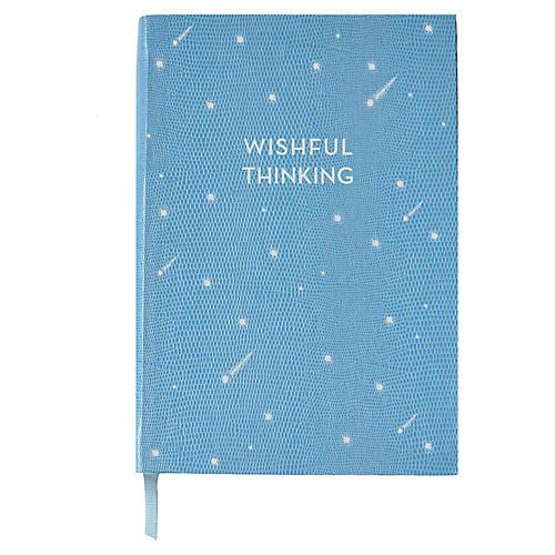 Wishful Thinking Journal, Light Blue/White
