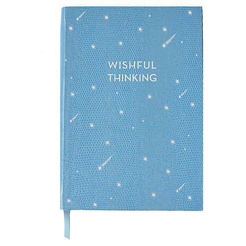 Wishful Thinking Journal, Light Blue/White