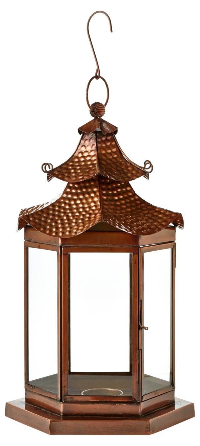 "14"" Pagoda Lantern, Copper"